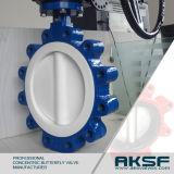 Válvula de borboleta concêntrica do assento do tipo PTFE de Aksf