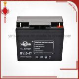 batterie solaire noire de 12V 17ah pour le système de panneau solaire