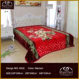 Одеяло полиэфира одеяла норки конструкции цветка