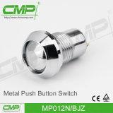 반지 램프 누름단추식 전쟁 스위치 (12mm)로 순간 걸쇠를 거는 1no