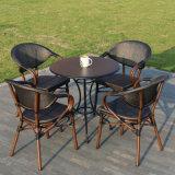 Patio-Aluminiumglashaupthotel-Büro Starback Textilene, das Stuhl (J813, speist)
