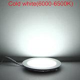 luz del panel plana de 3W 4W 6W 9W 12W 15W 18W 24W LED