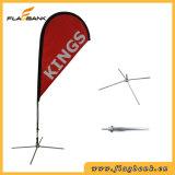 Ausstellung-bewegliche Digital-Druckenteardrop-Aluminiummarkierungsfahne/Fliegen-Markierungsfahne