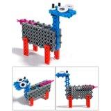 14885505-4 en 1 animal cambió el juguete creativo educativo 33PCS fijado los bloques (el búfalo del kit DIY del bloque de los pescados del camello de la cabra)