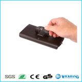Caja de cuero horizontal del teléfono de la carpeta de la pistolera del clip de la correa de cintura