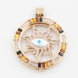 Laufende Augen-Münzen-Platte befestigt für Locket-hängende Form-Schmucksachen