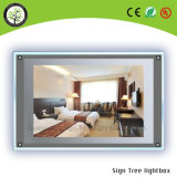 Slim Acrílico Crystal LED Magic Mirror Digital Light Box