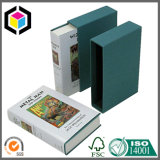 Rectángulo de papel del regalo del libro de caso de resbalón de la cartulina del color verde