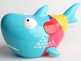 OEM resina animales de mar Diseño caja del ahorro de la caja de dinero