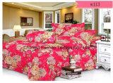 新しく優雅な寝具の一定4PC羽毛布団カバー一定のMicrofiberの極度の柔らかい生命