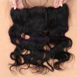 8A等級の赤ん坊の毛を搭載するインドの人間の毛髪のレースの正面閉鎖13X4は漂白された結び目のバージンボディ波のレースのFrontalsを放す