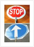 Circulation réfléchie sur mesure Cercle Signal d'avertissement de route en aluminium Signaux de sécurité routière