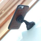 Couvertures de luxe de téléphone cellulaire de cuir véritable avec la garniture magnétique intrinsèque