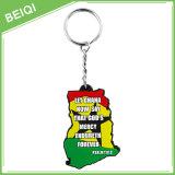 Presentes promocionais Cadeia de chave de borracha / PVC personalizado Chaveiro / Chaveiro de silicone plástico