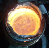 Four à induction de fonte de fonte de cuivre de machine de chauffage par induction électromagnétique