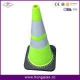 Cone de borracha reflexivo da segurança de tráfego da estrada