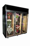 Refrigerador superior de la visualización de la flor de la alta calidad de la venta