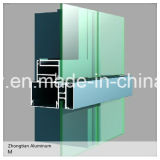 Perfil de extrusão de alumínio / alumínio para janelas e cortinas