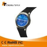 Reloj elegante vendedor caliente del teléfono celular del reloj SIM del silicón impermeable móvil de la tarjeta 3G Bluetooth