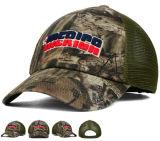 Pressional OEM Customized 3D Bordado 6 Panels Camouflage Sports Baseball Cap