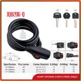 Jq8206-Q Qualitäts-Sicherheits-Spirale-Kabel-Verschluss-Fahrrad-Verschluss