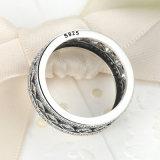여자를 위한 호화스러운 형식 보석 925 순은 사각 공간 CZ 큰 반지