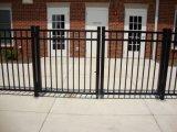 Qualitätsfreies Pflege-Puder-überzogener dekorativer Zaun mit Gatter