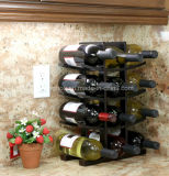 12-fles het Donkere Rek van de Wijn van de Vertoning van de Opslag van de Fles van de Espresso Houten