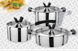 Cookware del acero inoxidable de la alta calidad 6PCS fijado para la venta
