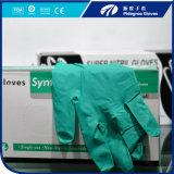 Grünes medizinisches Nitril-Handschuh-Puder freies S/M/L/XL