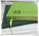 Diario di cuoio verde /Notebook del Hardcover dell'unità di elaborazione di Customzied
