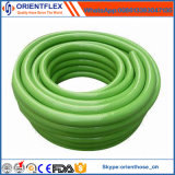 Non tuyau flexible tressé de l'eau de jardin de PVC de fibre légère d'odeur
