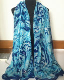 Écharpe personnalisée bon marché de mode estampée par animal d'océan en polyester 100% (HM088)