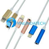 De Kabel van de verlichting met de Adapter van de Oortelefoon voor iPhone7, iPhone7plus, iPhone7 Adapter, Bliksem aan 3.5 mmHoofdtelefoon Jack Adapter