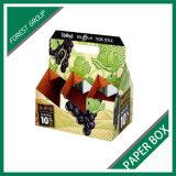 Caixa de papel do vinho de seis blocos