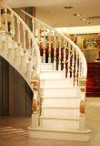 Escalera blanca natural de madera sólida de la protección del medio ambiente