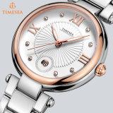 Volle Stahl-Uhr-Frauen-überwacht LuxuxmarkeRhinestone Dame-beiläufigen analogen Quarz Wristwatches71156