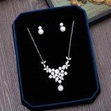 Collar de plata nupcial Wedding del Rhinestone de la perla de la joyería
