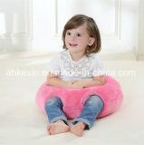 Круглая подушка младенца пинка ткани плюша с завалкой хлопка PP