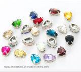 Het water laat vallen het Kristal van de Klauw van het Glas het Holle Koper de Naaiende Parels van het Glas voor het Huwelijk van de Kleding DIY krabt