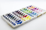 40s / 2 32 couleurs Spools +32 bobines Fils à coudre 100% polyester