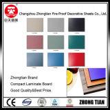 Tarjeta del laminado del compacto del Formica HPL del color sólido