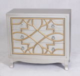 Specchio di legno Nightstand dell'oggetto d'antiquariato domestico della decorazione per la camera da letto