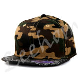 gorras de béisbol del Snapback del camuflaje del bordado 3D