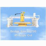 平板の切断の花こう岩または大理石(HQ700)の45ヘッド回転を用いる橋鋸引き機械