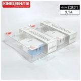 Vendita calda intelligente doppia del caricabatteria del micro di Kingleen C821/USB di iPhone 5V3.1A