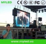 Schermo della visualizzazione di LED della priorità bassa di fase dello schermo HD della parete divisoria della fase del LED video grande per il concerto P6.25