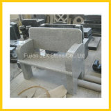 Banc de jardin en pierre de granit G603 Light Grey