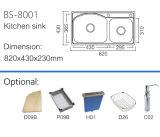 Küche-Wannen-Edelstahl mit zwei Filterglocken (BS-8001)