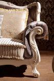 Sofá Tufted da tela da tecla européia da mobília da sala de visitas
